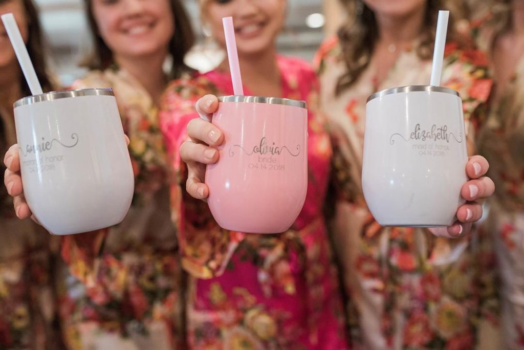 Stainless-Steel Tumbler For Wine and Coffee Will You Be My Bridesmaid Box Contents