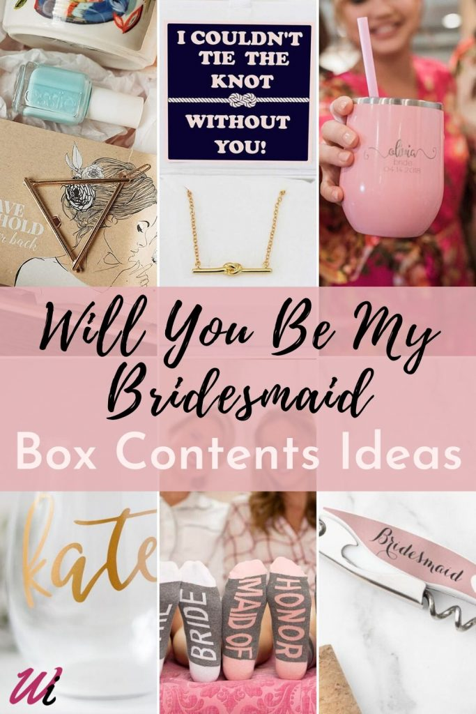 Will You Be My Bridesmaid Box Contents