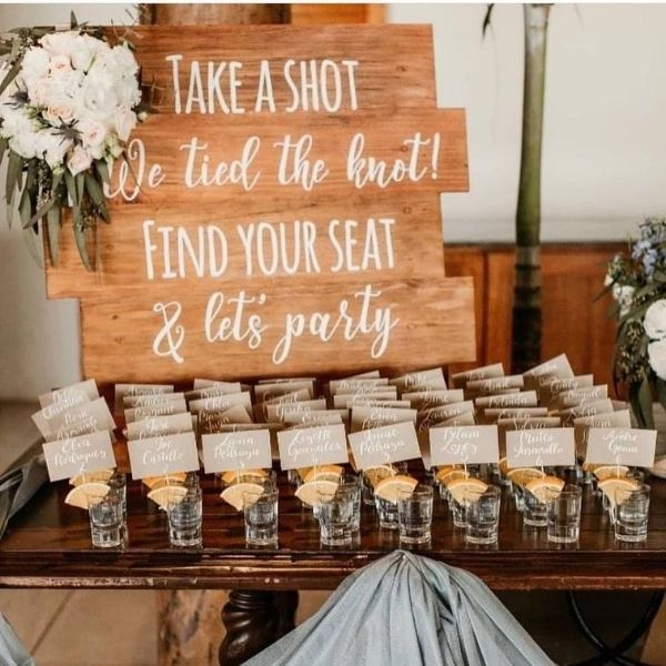 DIY Backyard Wedding Decorations On a Budget Wooden Seating Chart Sign