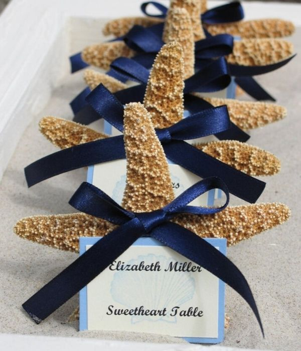 Sugar Starfish Place Cards and Favors Beach Wedding Starfish Themed Favors