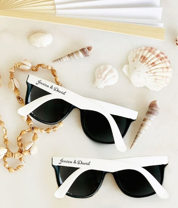 Custom Personalized Wedding Party Sunglasses Beach Wedding Favor to Keep Your Guests Cool
