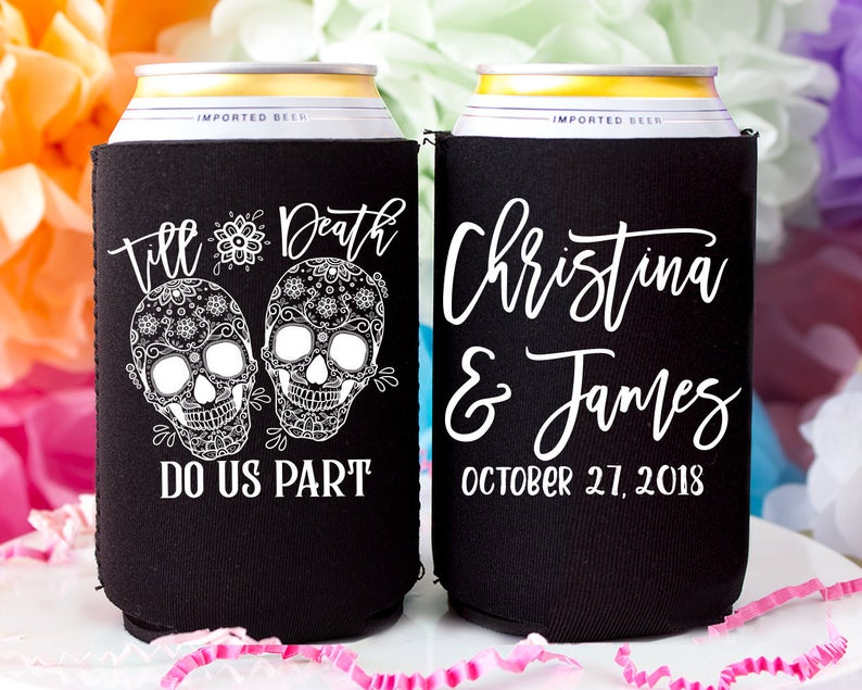 Ideas For Halloween Wedding Favors, Can Cooler