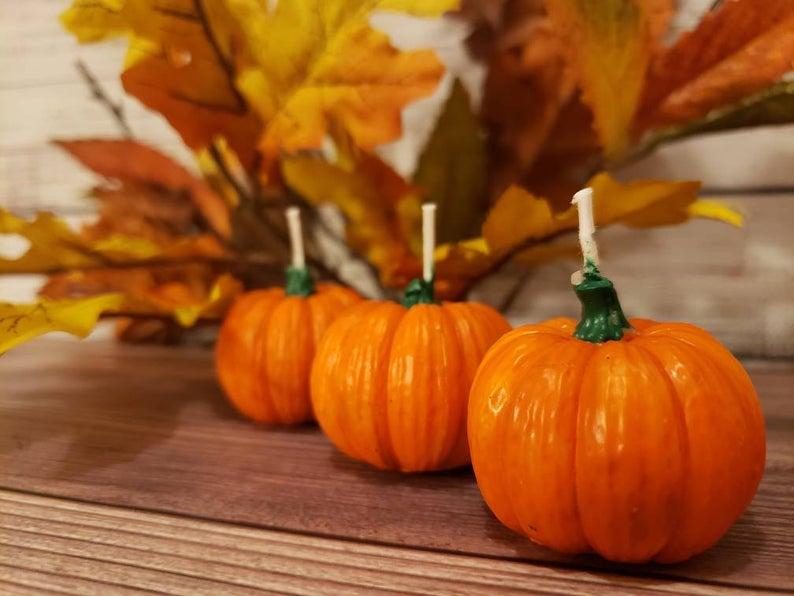 Ideas For Halloween Wedding Favors, Pumpkin Candles