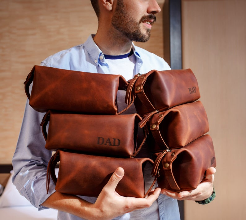 Non-Alcoholic and Useful Gifts Ideas for your Groomsmen Proposal, Toiletry Bag Groomsman Gift