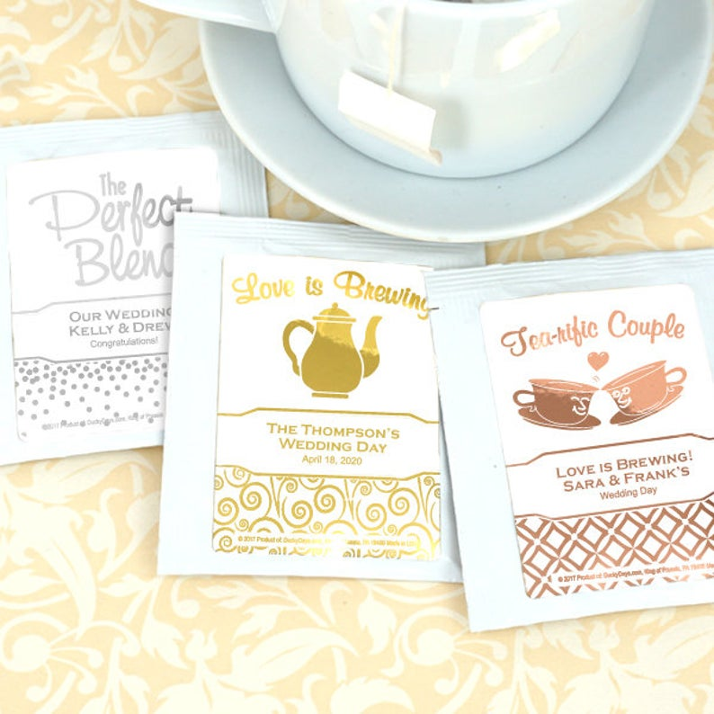 Wedding Favors Under $1 Personalized Tea Bags