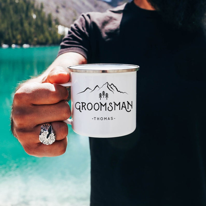 Non-Alcoholic and Useful Gifts Ideas for your Groomsmen Proposal, Camping Mug