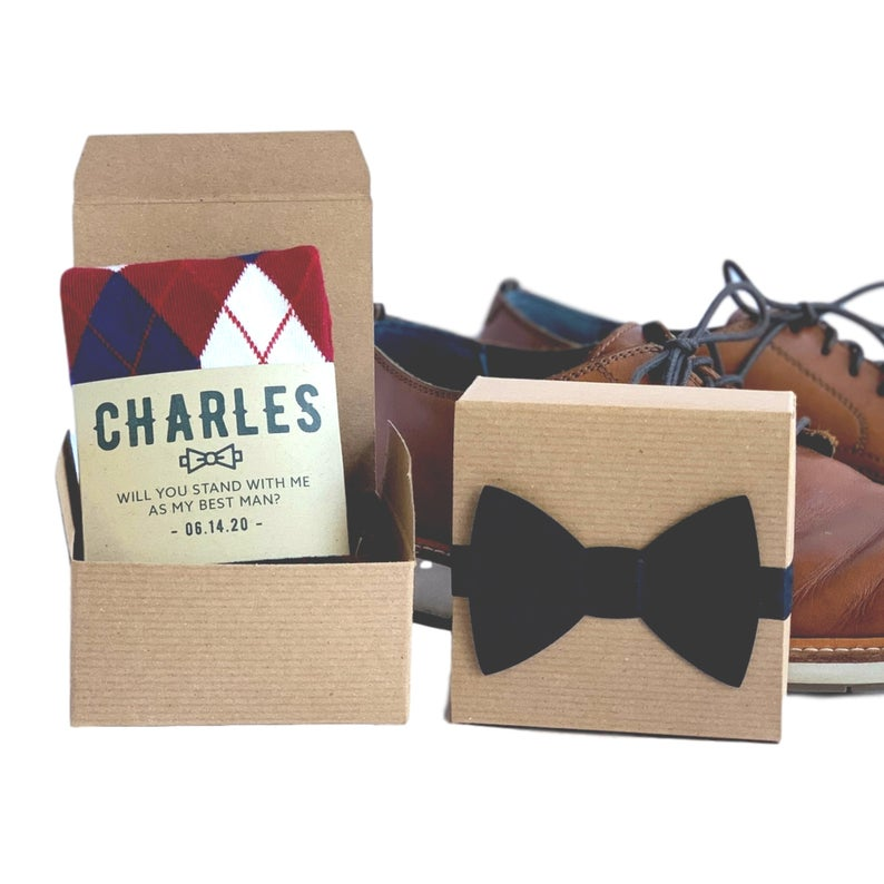 Non-Alcoholic and Useful Gifts Ideas for your Groomsmen Proposal, Personalized Groomsmen Socks with Custom Labels
