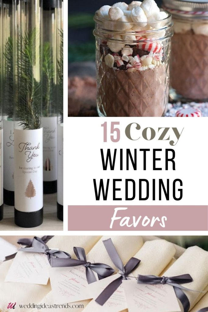Winter Wedding Favors for Guests
