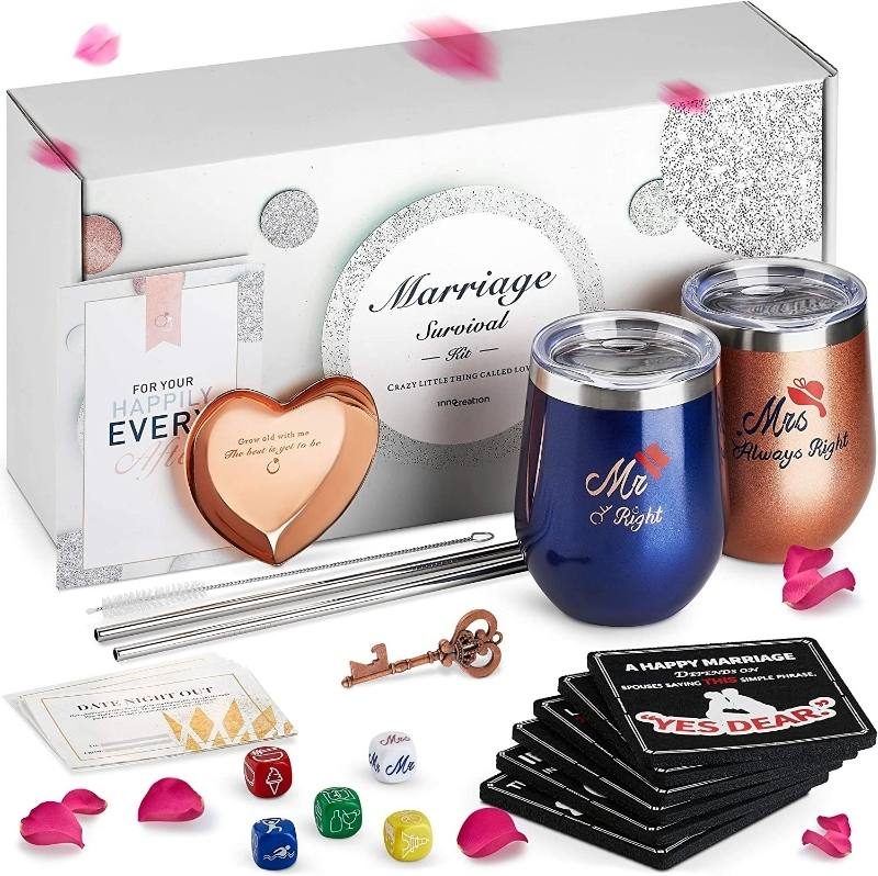Marriage Survival Kit Engagement Gift Basket for Couples