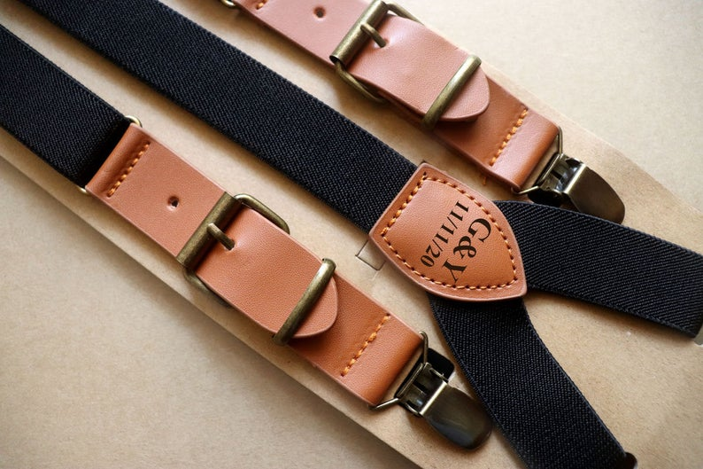 Non-Alcoholic and Useful Gifts Ideas for your Groomsmen Proposal, Personalized Groomsmen Suspenders