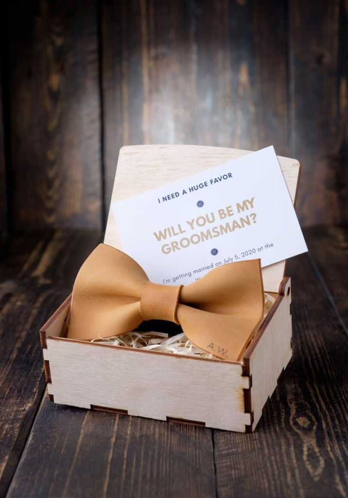 Non-Alcoholic and Useful Gifts Ideas for your Groomsmen Proposal, Bow Tie Proposal