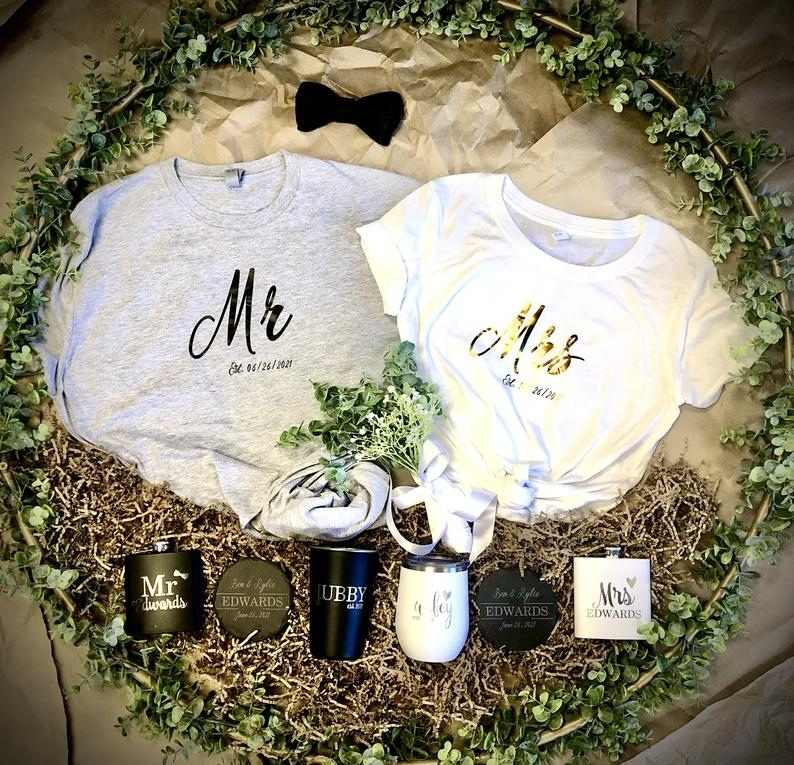 Engagement Gift Basket for Couples