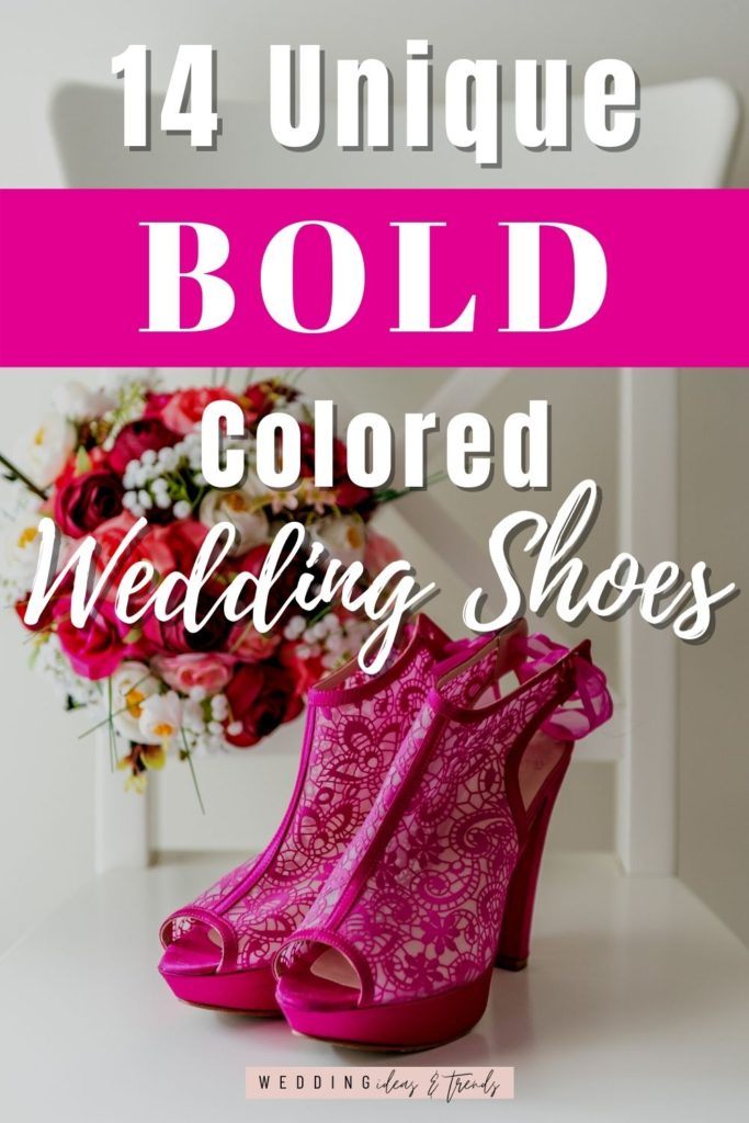 BOLD colored wedding shoes