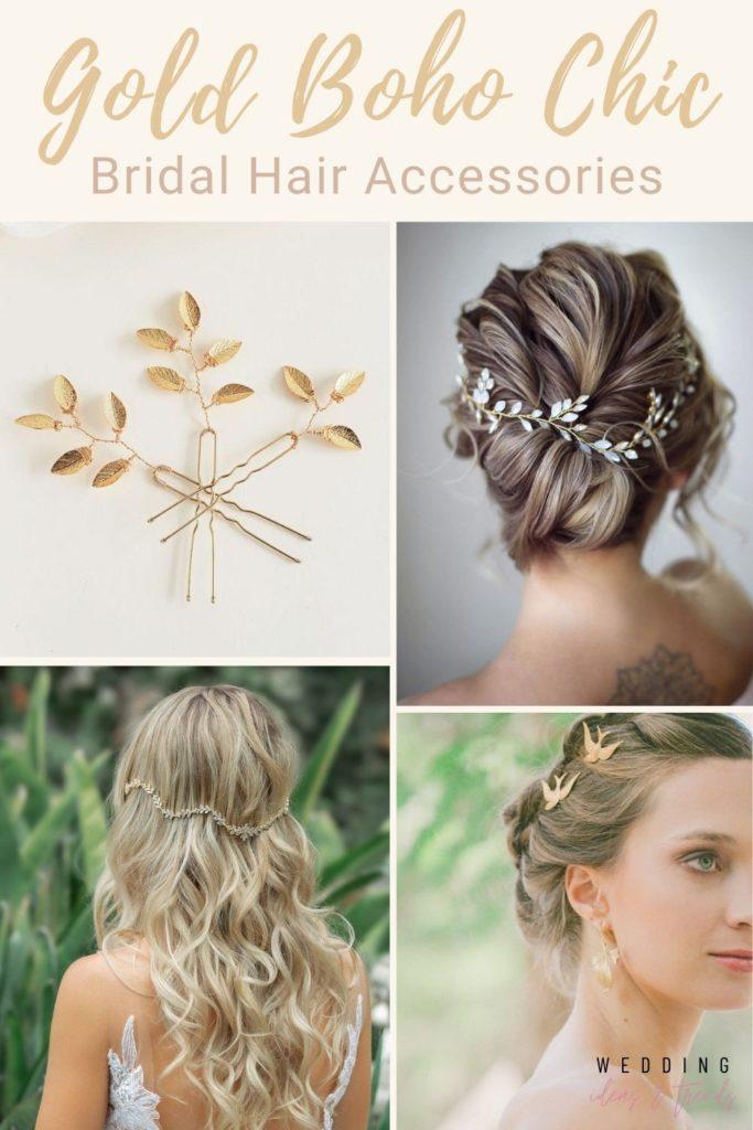 Gold Boho Bridal Hair Accessories