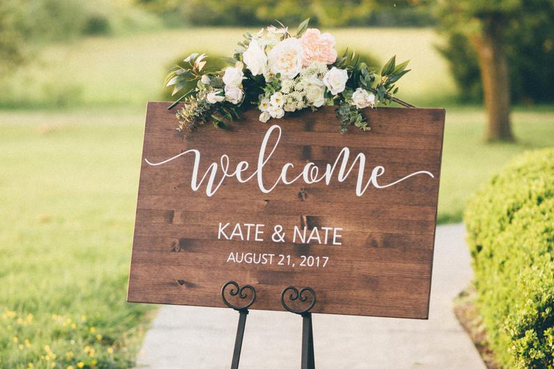 Amazing Wedding Welcome Signs - Wooden Rustic Welcome Signs