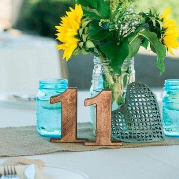 Rustic Wooden Table Numbers, Free Standing Rustic Wooden Wedding Table Numbers - wedding ideas & trends