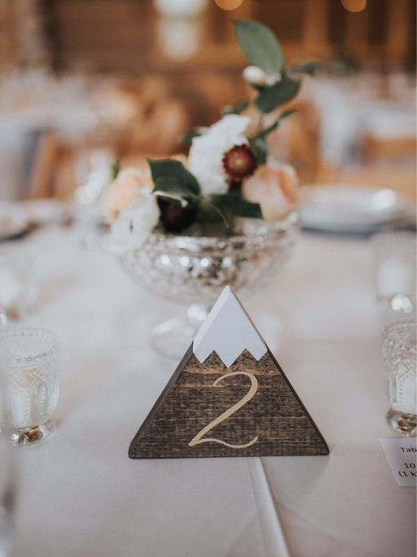 Rustic Wooden Table Numbers Mountain, Mountain Table Numbers - wedding ideas & trends