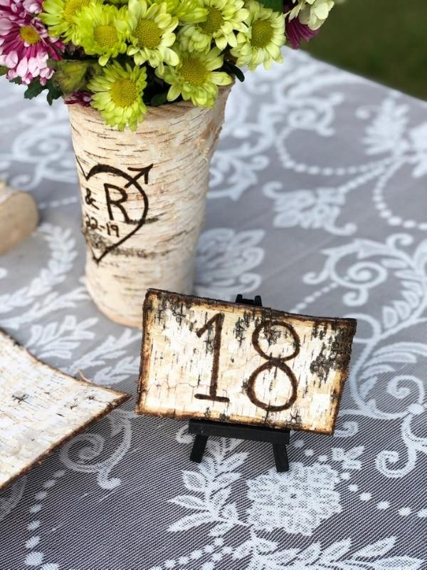 Rustic Wooden Table Numbers, Vintage Style Wooden Table Numbers - wedding ideas & trends