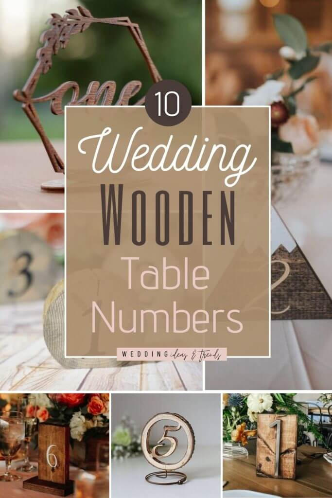 10 Beautiful Wooden Table Numbers For Rustic Wedding