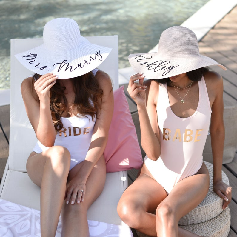 Bachelorette Pool Party Outfits And Accessories Sun Hats