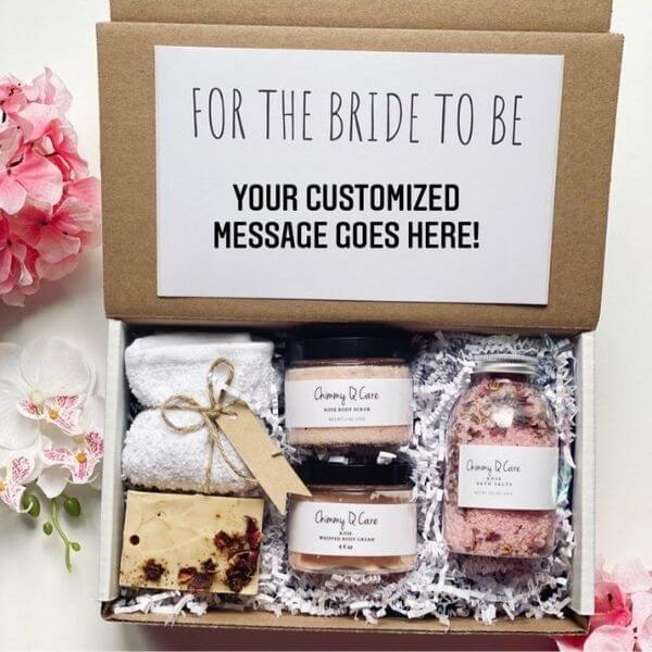 Spa engagement gift box for the bride to be