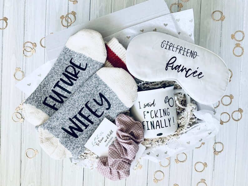 Cozy Winter Engagement Gift for the bride to be
