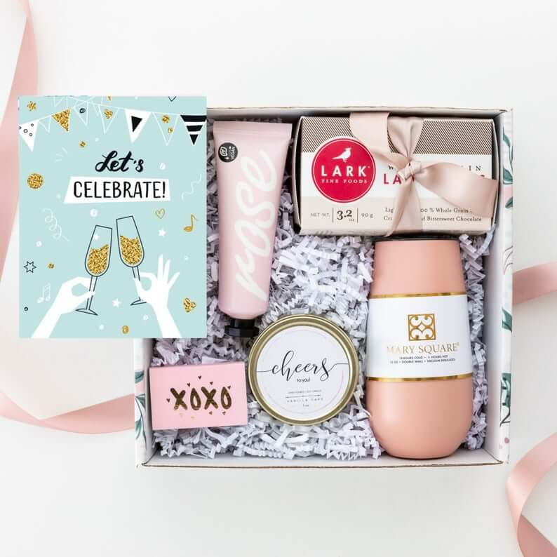 Congratulations engagement gift box for the bride to be