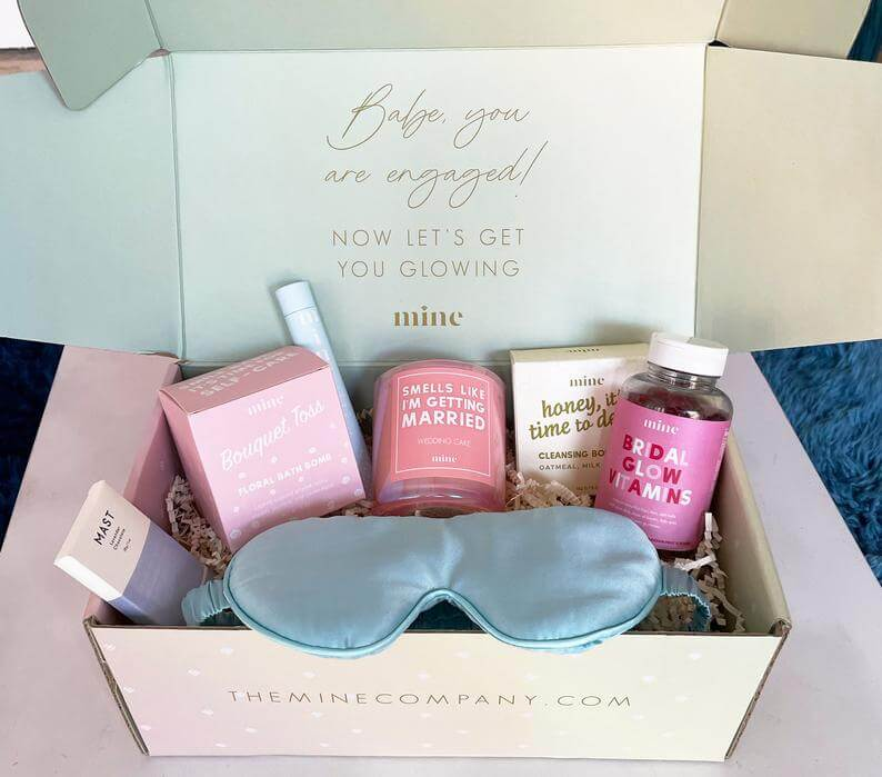Self Care and Wellness Basket for bride