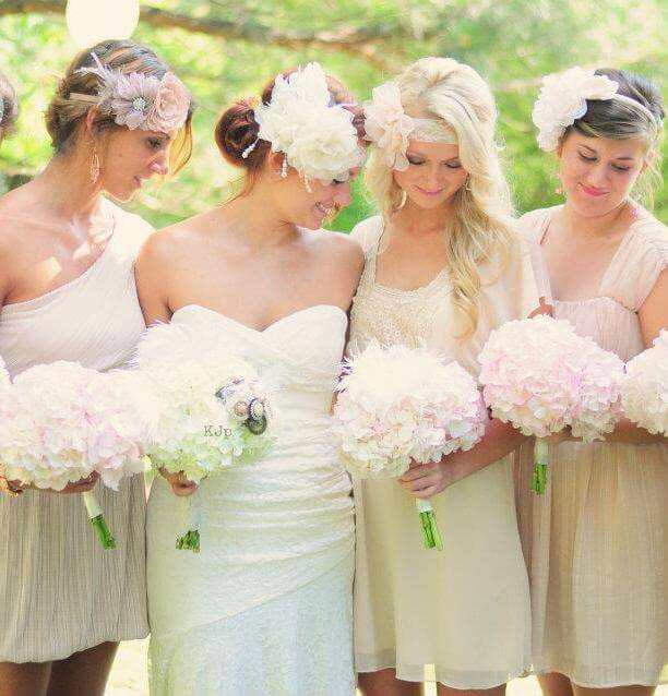 Soft and Simple Hydrangea Bouquets, Best Seasonal Flowers for July Wedding Bouquet