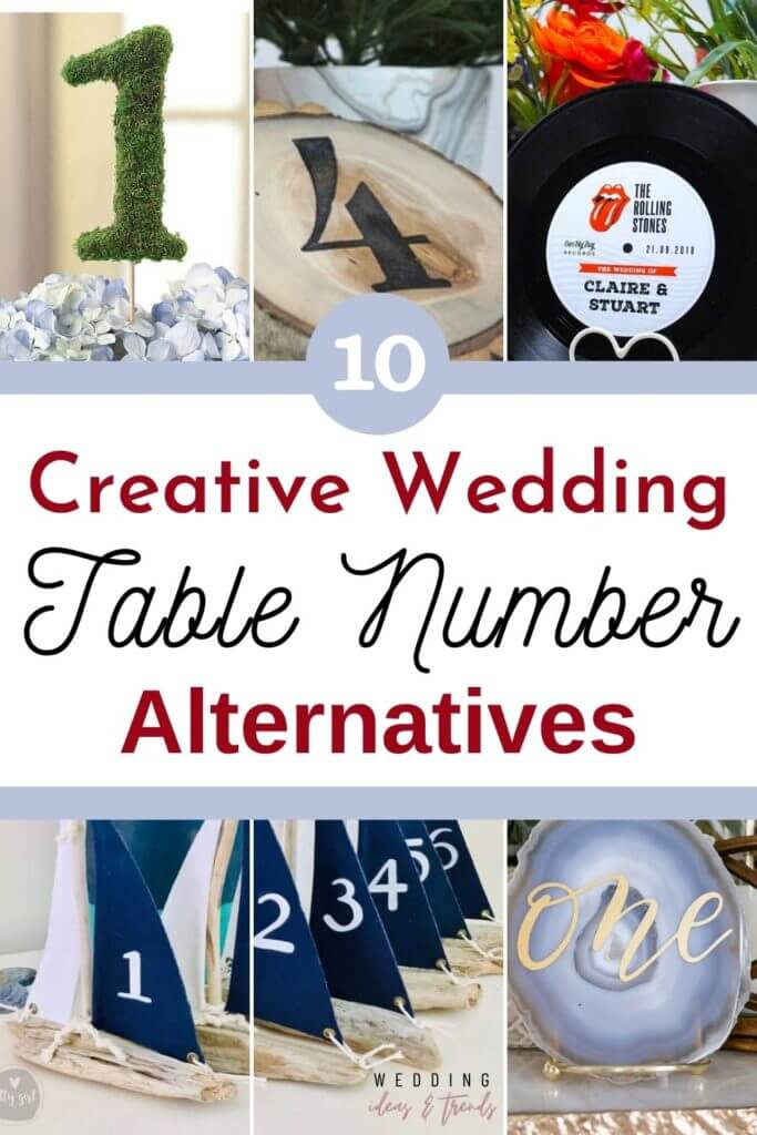 10 of the Most Creative Wedding Table Number Alternatives