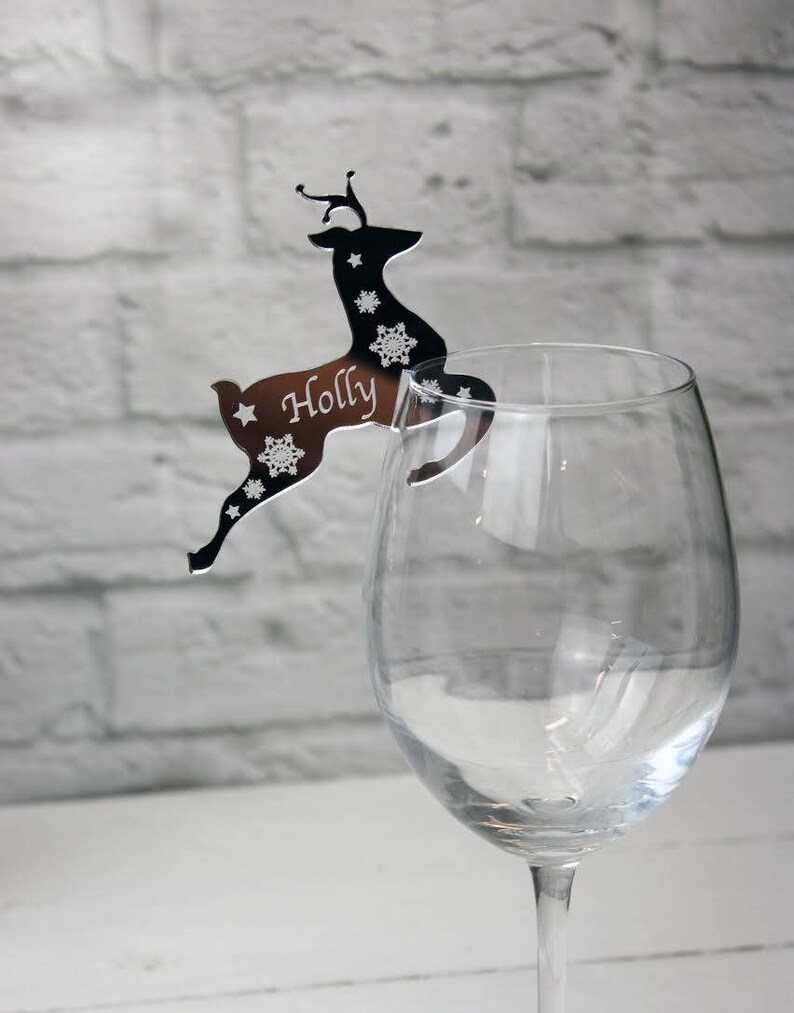 Reindeer Glass Decoration Personalized Christmas Wedding Favors