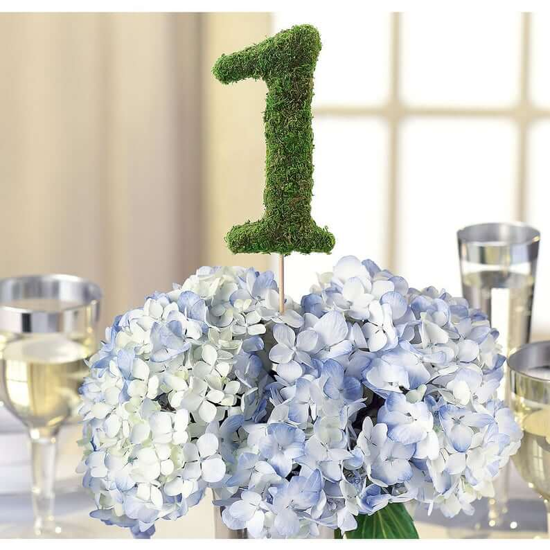 Moss Wedding Table number, Eco friend wedding decor. wedding Table Numbers alternatives